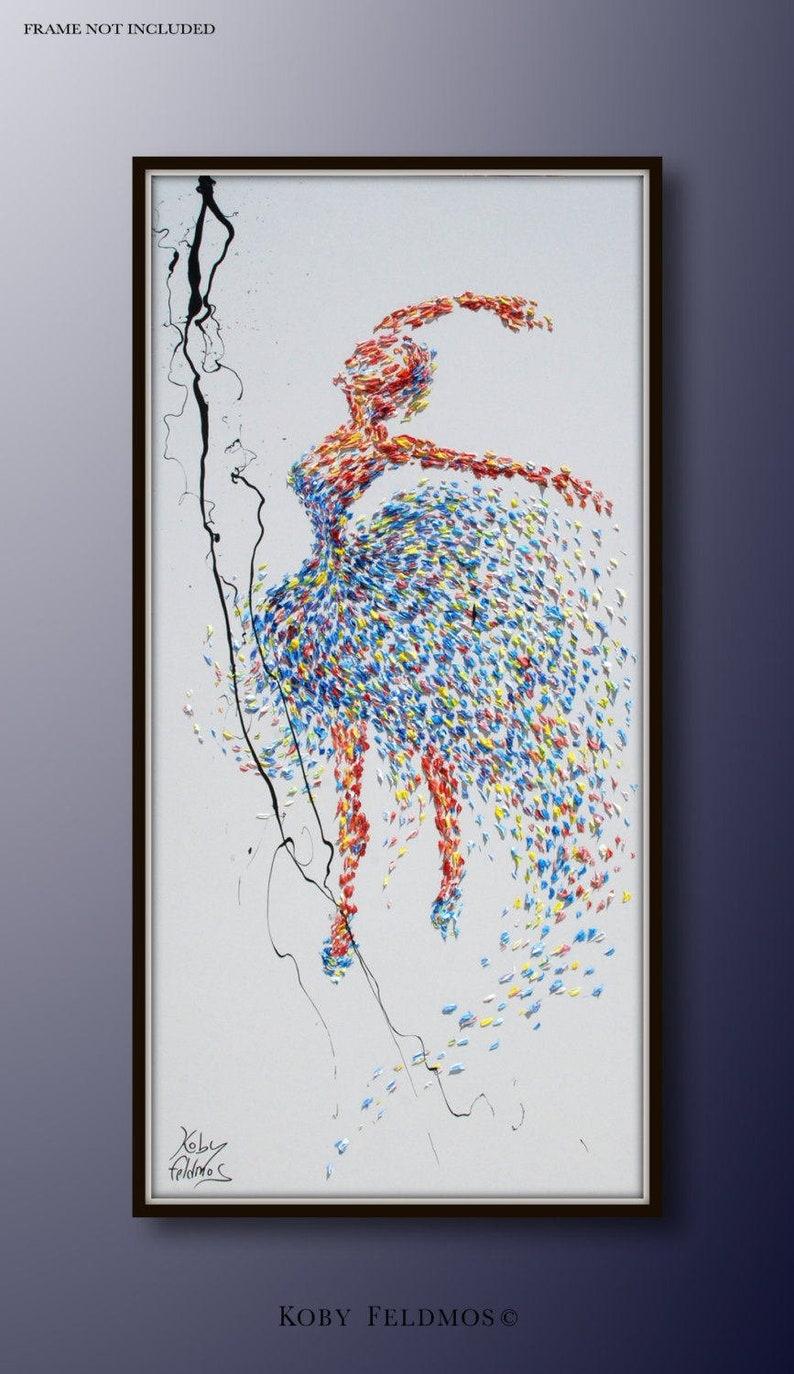 Painting ballerina 55 original painting on canvas image 0