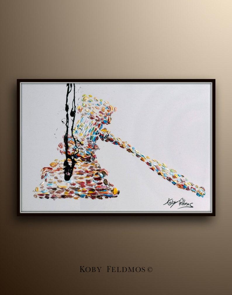 Office decor 40 painting Gavel Judge hammer beautiful image 0