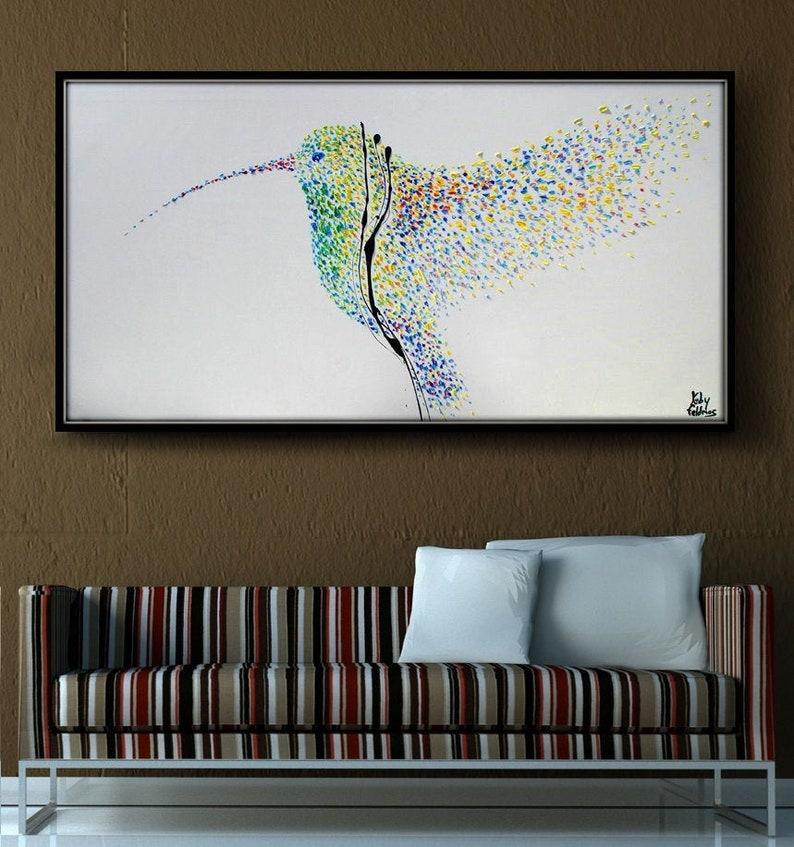 Painting Humming Bird 55 Original oil painting on image 0