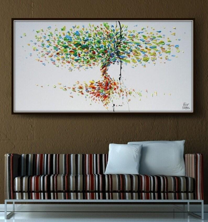 Tree 55 Original oil painting on canvas textured art image 1