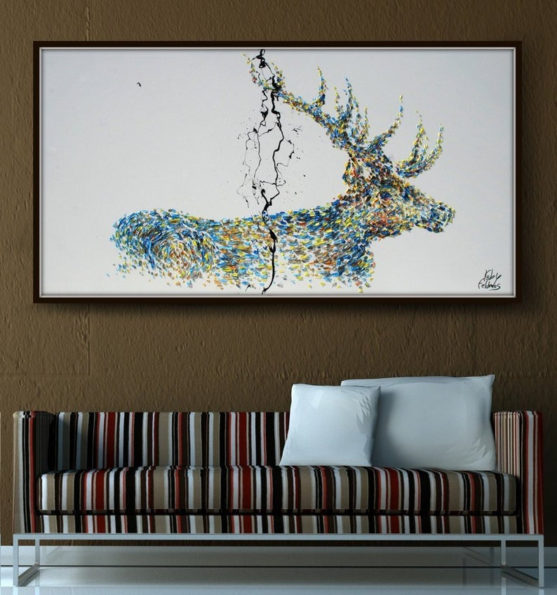 Painting 67 Animal STAG deer Abstract Painting on image 0