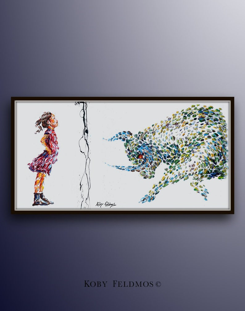 Office painting 67 Fearless girl  oil painting on image 0