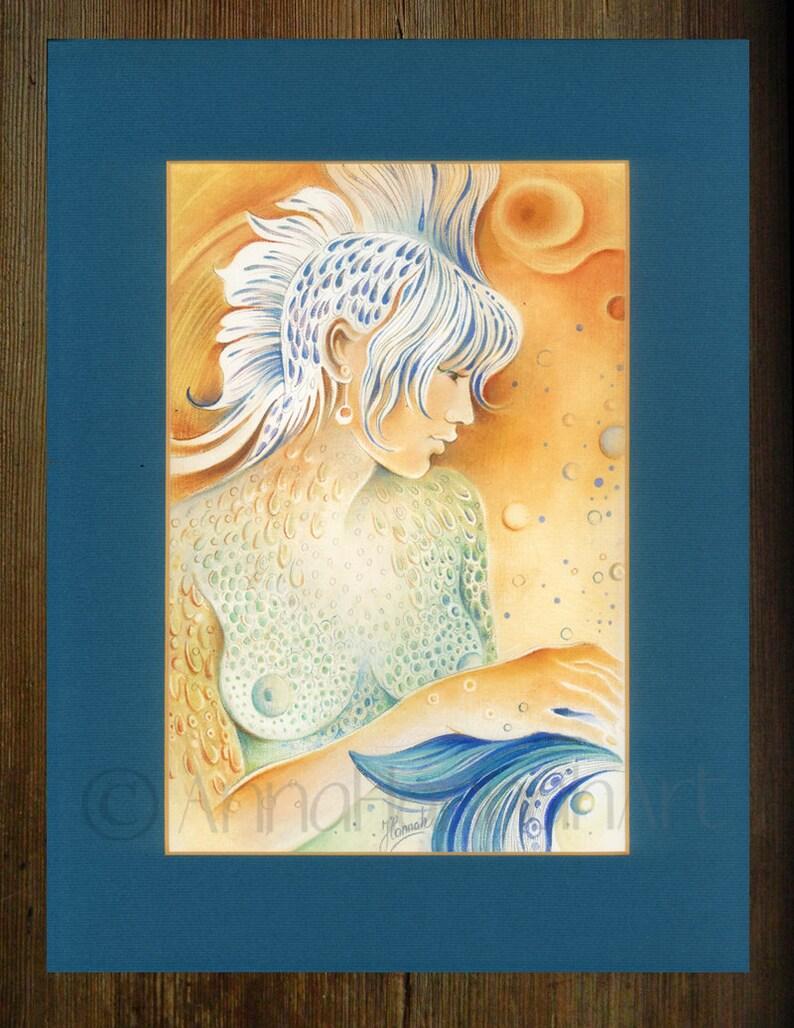 pisces star zodiac sign angel planet water horoscope astrology drawing  print magic beautiful woman erotic art elegant symbol spiritual gift