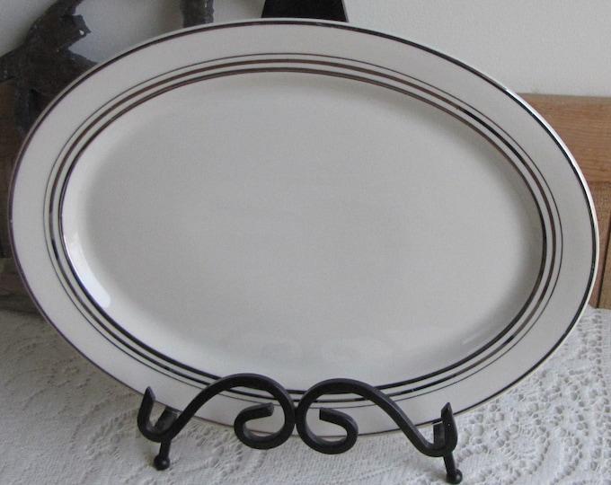 Syracuse Nimbus dinner platter Old Ivory 1949-1967