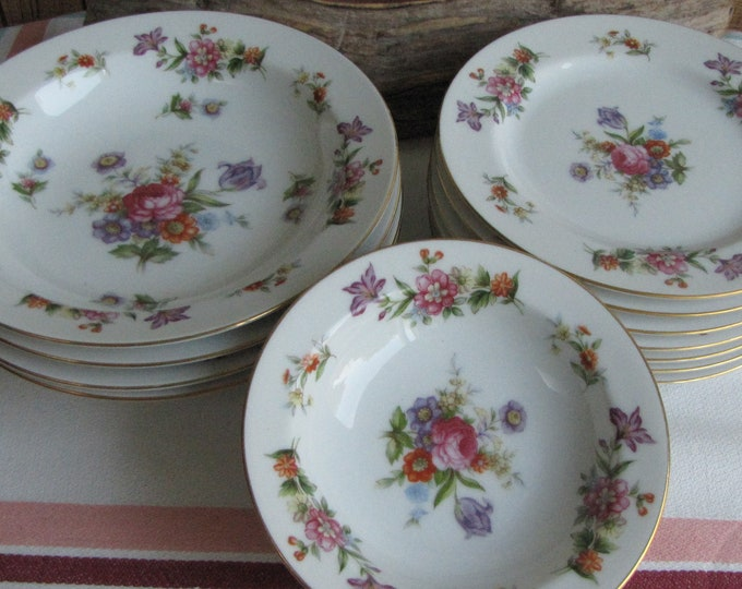 Dresdania Dinnerware Harmony House Fine China Fourteen (14) Piece Set Sears and Roebuck & Co. Vintage Dinnerware and Replacements