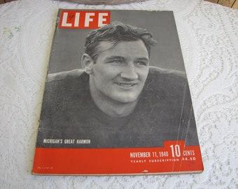 Life Magazines 1940 November 11 Michigan's Great Harmon Vintage Magazines and Advertising