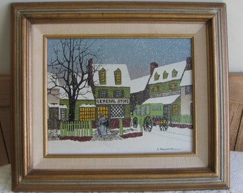 H. Hargrove General Store oil painting