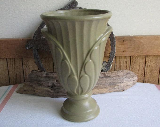 Haeger Sage Green Urn Vintage Art Pottery and Home Decor
