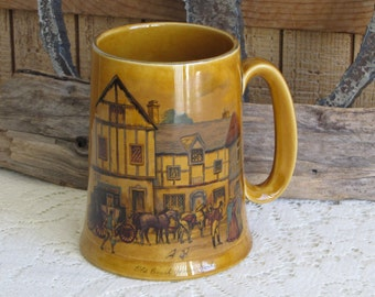 Woods and Son beer stein 1940-1950 Vintage Bar and Drinkware