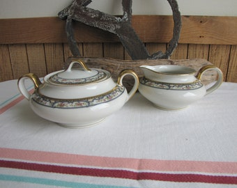 Theodore Haviland 1903 Cream Pitcher and Sugar Bowl Antique Dinnerware and Replacements