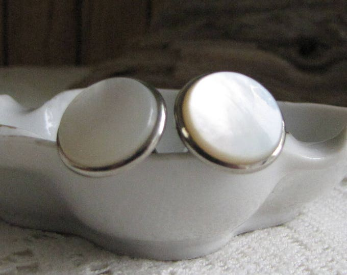 Hickok Cuff Links Mother of Pearl Vintage Men's Jewelry and Accessories Formal Wear