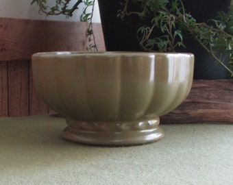 Green McCoy Floraline Planter Footed Florist Ware Succulent Planters Vintage Planter and Pots