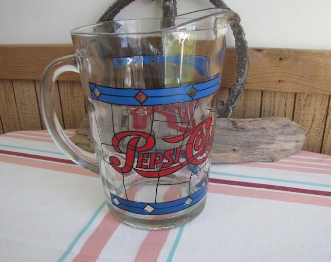 Pepsi Cola pitcher 1970s Vintage Bar and Drinkware