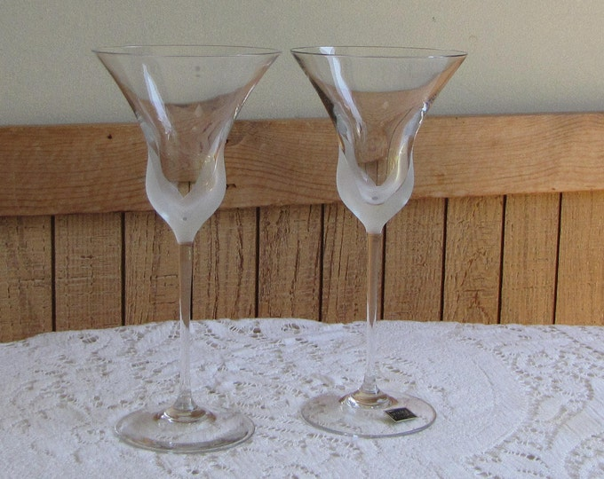 Mikasa Fiore wine glasses set of 2 1981-1987 Vintage Drink and Barware