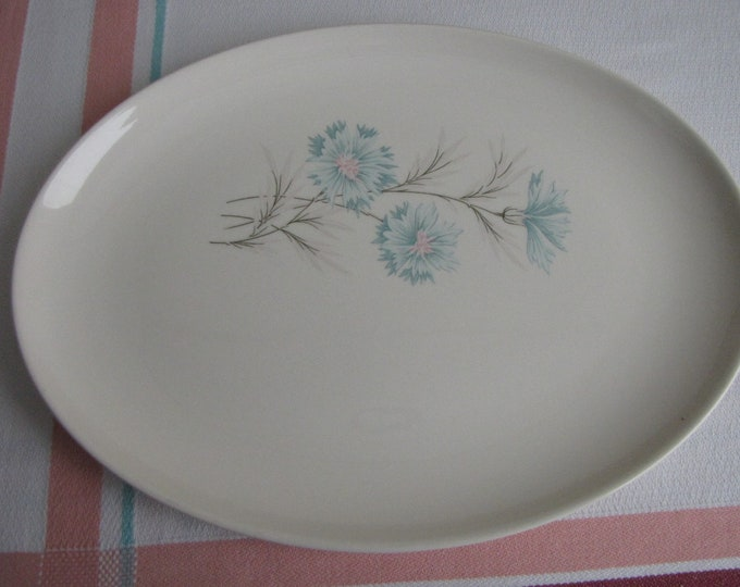 Blue Boutonniere platter Taylor Smith & Taylor Vintage Dinnerware and Replacements