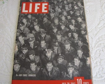 Life Magazines 1943 July 26 8th Air Force Bombers Vintage Magazines and Advertising
