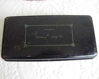Lansing Diary Metal Cash Box Vintage Boxes