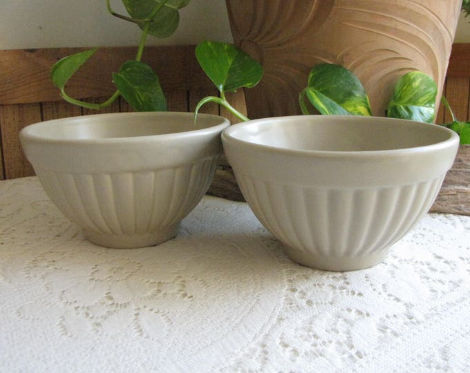 Haeger Gray Bowls 296 Set of Two (2) Vintage Dinnerware and Replacements
