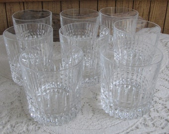 Tuilleries Villandry Old Fashions Crystal Barware Cristal D'Arques-Durand 1976 – 1997 Set of Eight (8)