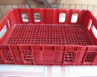 Vintage Coca Cola red plastic crate 1970s