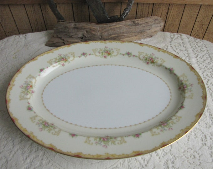 Noritake dinner platter 1930s 16 x 12 inch Vintage Dinnerware and Replacements