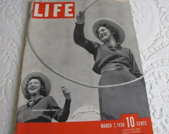 Life Magazines 1938 March 7 Texas High School Girls Vintage Magazines and Advertising