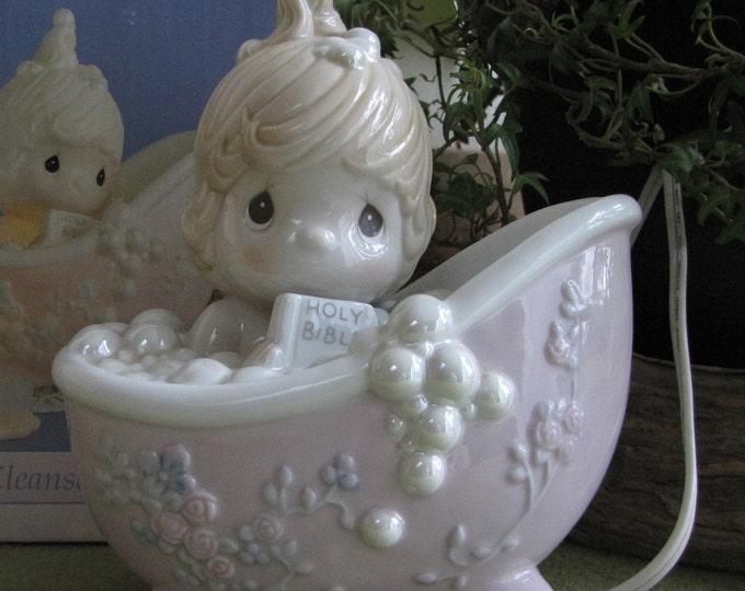 Precious Moments He Cleansed My Soul Night Light 1992 Vintage Collectibles