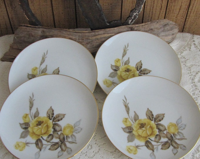 Cotillion Bread and Butter Plates by Sango 1950s Set of Four (4) Vintage Dinnerware and Replacements