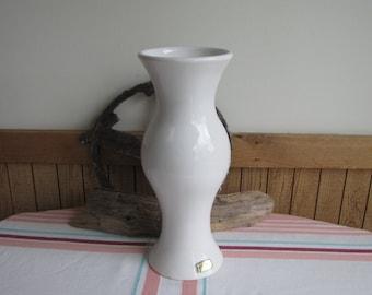 Vintage Haeger Pottery white vase