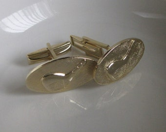 Nine Iron Gold Club Cufflinks Vintage Men's Jewelry and Accessories