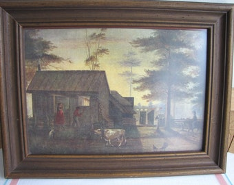 Sharecropper Union Soldier print Vintage Wall Hangings and Home Decor
