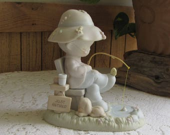 Precious Moments Just A Line To Say You're Special Figurine Trumpet 1994 Symbol Retired