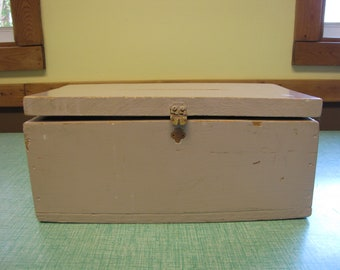 Old Wood Boxes Suggestion Box Vintage Storage and Containers