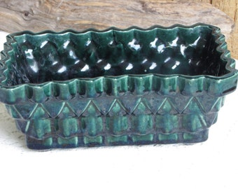 Vintage Forest Green Planter UPCO USA Planters and Pots Succulents and Indoor Plants