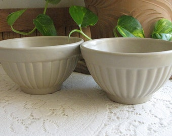 Haeger Pottery gray bowls #296 set of 2 vintage dinnerware