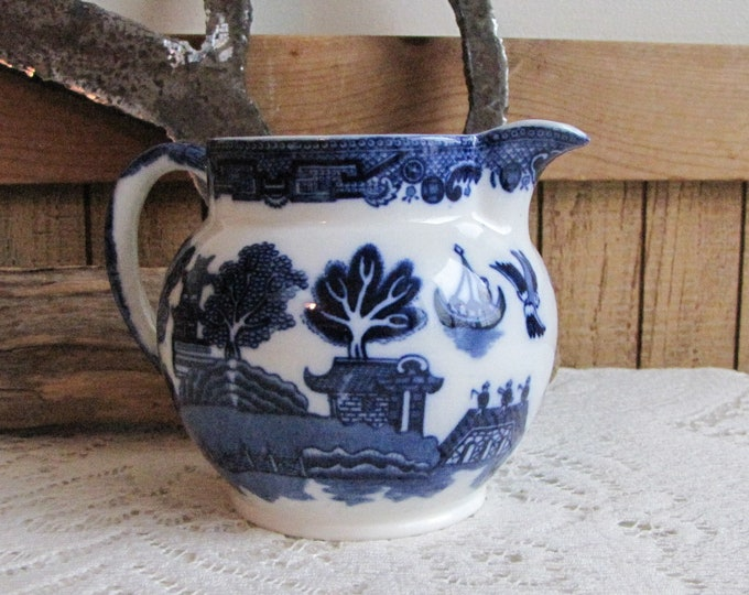 Blue Willow Allerton Creamer Antique Dinnerware and Replacements Chinoiserie and Vintage Home Decor