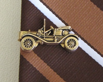 "Anson Ford Model ""T"" Tie Clip Vintage Men's Jewelry and Accessories Antique Car Motif"