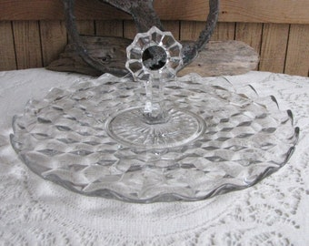 Fostoria American Tidbit Tray Handled Serving Plate Vintage Dinnerware and Replacements