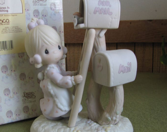 Precious Moments Good News is So Uplifting Figurine Heart Symbol 1996