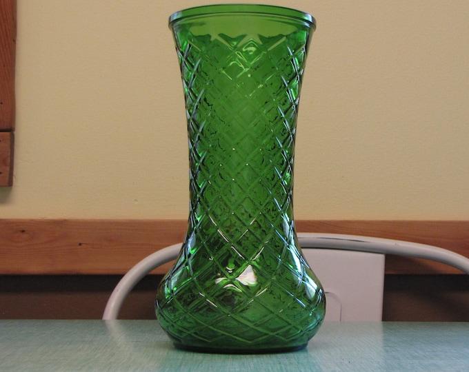 Emerald Green Vase Vintage Florist Ware and Flower Bouquets