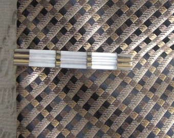 Austrian Tie Clip Vintage Men's Jewelry and Accessories Gold Toned and Pearl Bars