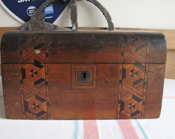 Vintage Wood Jewelry Box Rustic Wooden Storage Boxes
