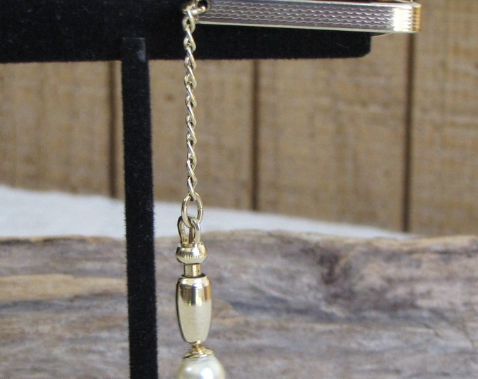 Hickok Tie Bar with Pearl Vintage Men's Jewelry and Accessories