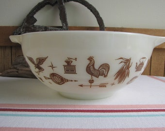 Pyrex Early American Cinderella Mixing Bowl Vintage Bowls and Kitchens