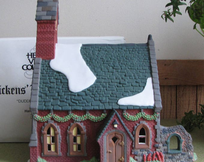 Dickens's Village Series Dudden Cross Church Heritage Collection Hand Painted Porcelain 1995- 1997 Retired
