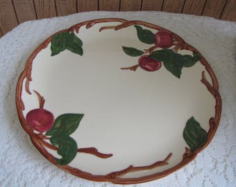 Franciscan Apple Chop Plate Vintage Dinnerware and Replacements California Pottery 1941-1947