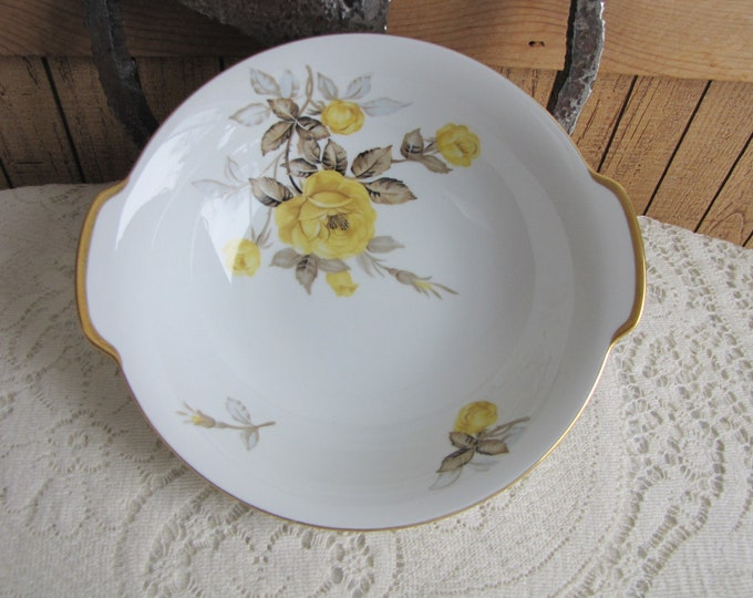 Vintage Cotillion Vegetable Bowl Dinnerware and Replacements by Sango Yellow Roses 1950s