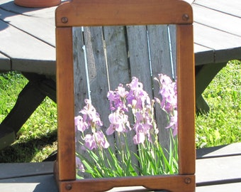Dresser Mirror Wood Framed Mirror Stand Wash Basin or Dressing Table Mirror Vintage Home Decor and Mirrors