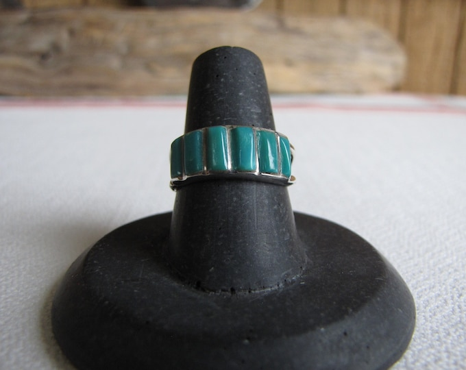 Silver and Turquoise Ring Vintage Jewelry and Accessories