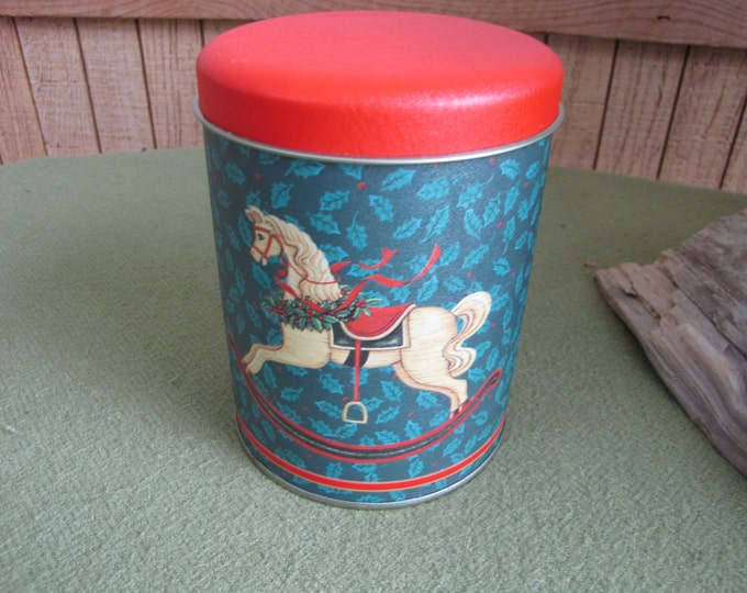 Christmas Rocking Horse Tin Vintage Tins